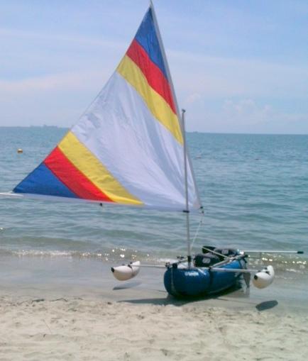 Sailboats To Go » Any-Kayak Upwind Sail Kit