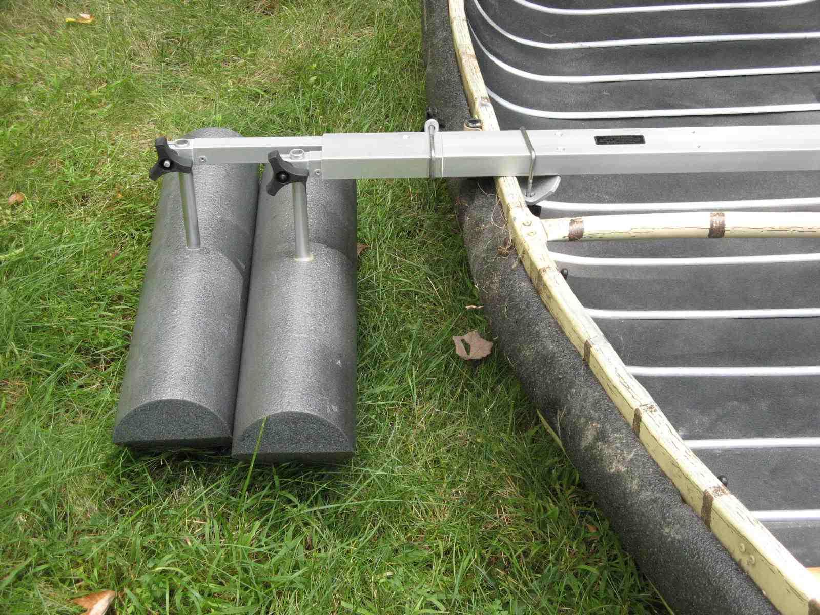 Useful homemade canoe stabilizer plans using the plan for Plans for canoe