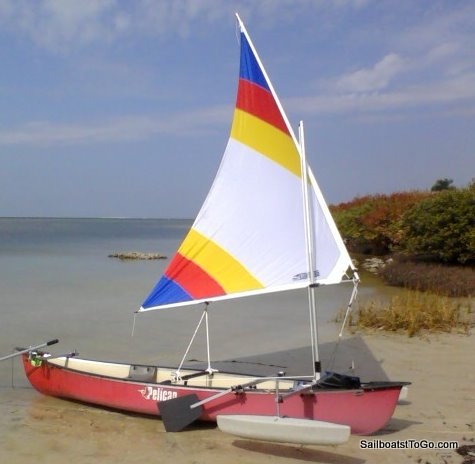 how to add a sail to a canoe