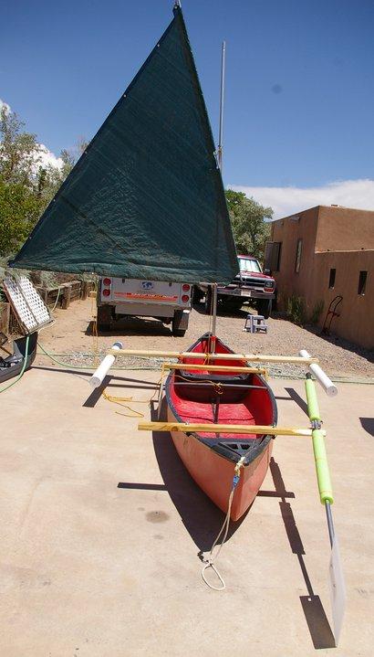 Sailboats To Go » Catalog » DIY Plans - Canoe Sailing Rig / Inflatable Sailboat Rig