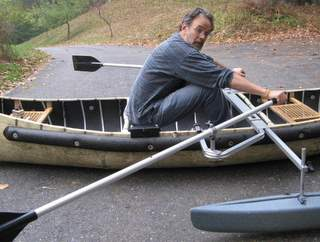 Sailboats To Go » Canoe Stabilizers Adjust In, Out, Up and Down