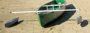 how to get bow down with a square stern canoe