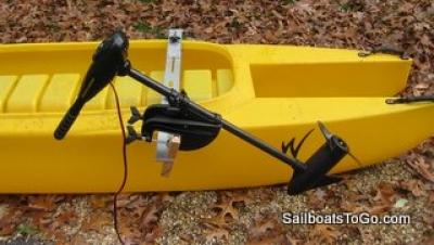 how to make a canoe motor mount