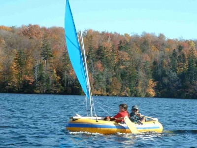 SailboatsToGo»Inflatable boat sail rig PLANS & how to sail ...
